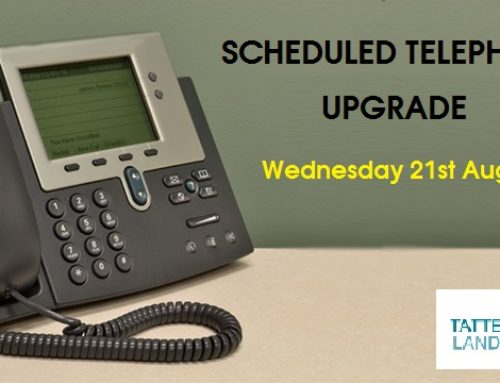Scheduled Telephone System Upgrade